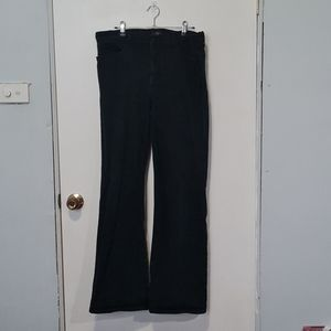 Black wide flared jeans from NYDJ